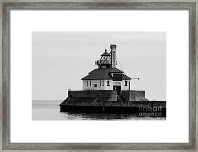 Lake Superior Lighthouse Framed Print by Brady Rasmussen