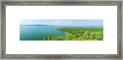 Lake Superior Panorama Framed Print by Elena Elisseeva