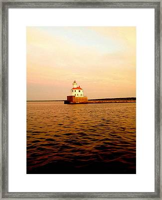 Lake Superior Serenity  Framed Print by Danielle  Broussard