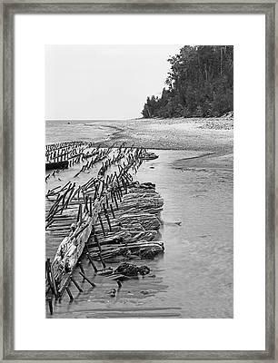 Lake Superior Shipwreck Framed Print
