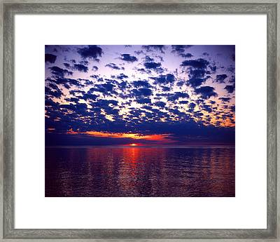 Lake Superior Sunset Framed Print by Tim Hawkins