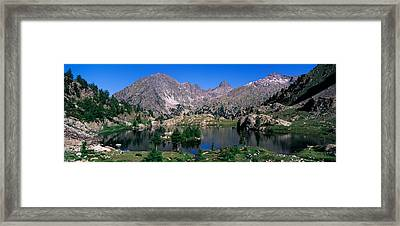 Lake Surrounded By Mountains Framed Print by Panoramic Images