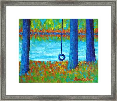 Lake Swing Tranquility Framed Print