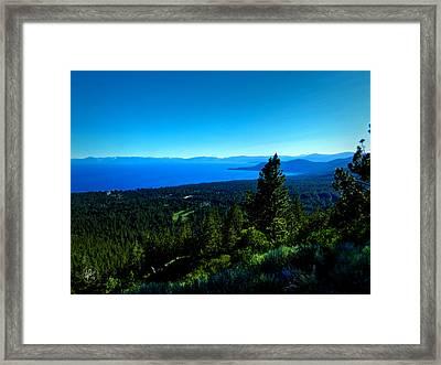 Lake Tahoe 001 Framed Print by Lance Vaughn