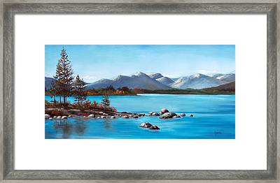 Lake Tahoe Blues Framed Print
