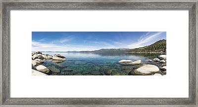 Lake Tahoe Calm Framed Print