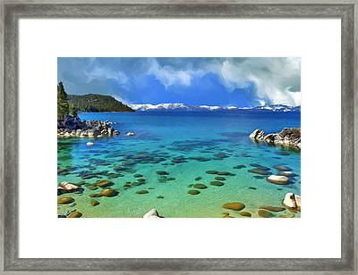 Lake Tahoe Cove Framed Print by Dominic Piperata