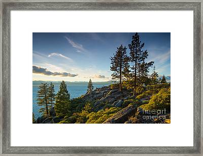 Lake Tahoe From Chimney Beach Trail Framed Print