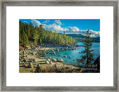 Lake Tahoe Hidden Cove Framed Print by Janis Knight