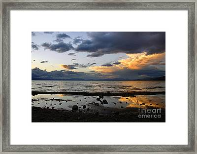 Framed Print featuring the photograph Lake Tahoe In May by Thomas Bomstad