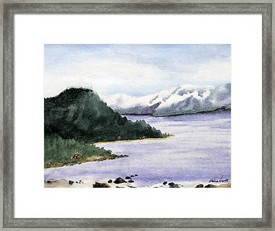 Lake Tahoe In Snow Framed Print