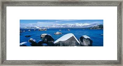Lake Tahoe In Winter, California Framed Print by Panoramic Images