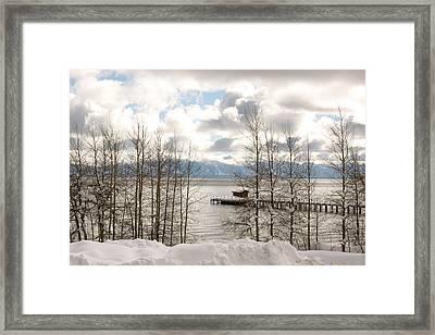 Lake Tahoe In Winter Framed Print by Denice Breaux