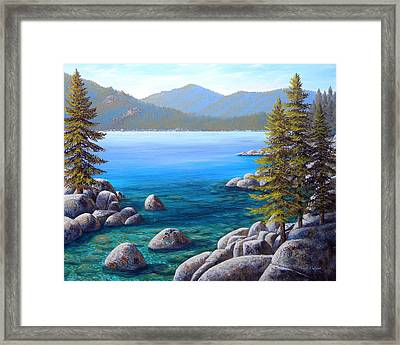 Lake Tahoe Inlet Framed Print