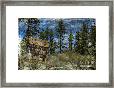 Lake Tahoe National Forest Framed Print