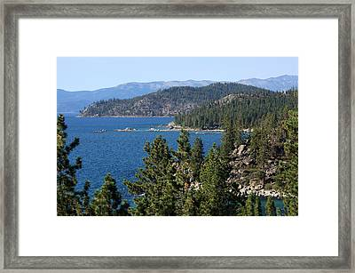 Lake Tahoe Nevada Framed Print by Aidan Moran