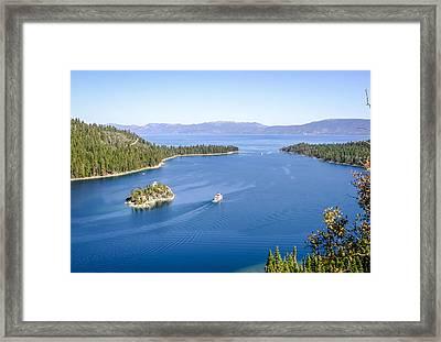 Lake Tahoe Paddle Boat Framed Print
