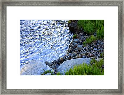 Lake Tahoe River's Edge Framed Print by Anne Barkley