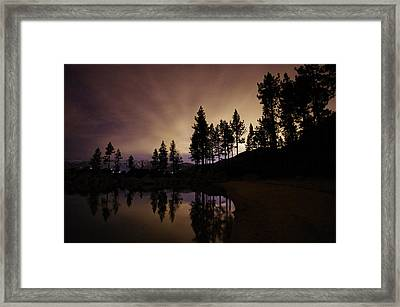 Lake Tahoe Sand Harbor Silhouette Framed Print by Scott McGuire