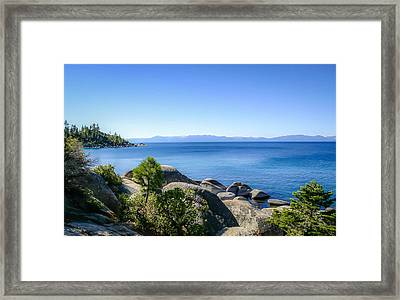 Lake Tahoe Shore Framed Print