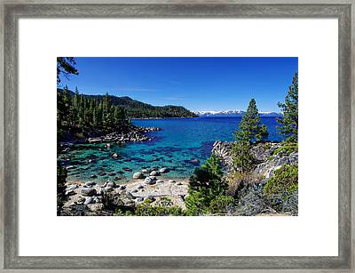 Lake Tahoe Springscape Framed Print by Scott McGuire