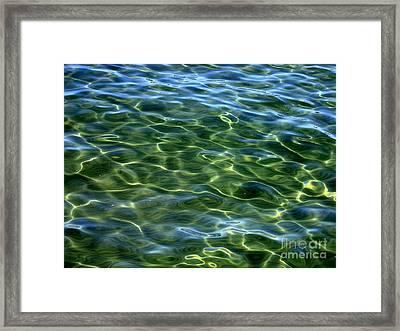 Lake Tahoe Swirls Abstract Framed Print by Carol Groenen