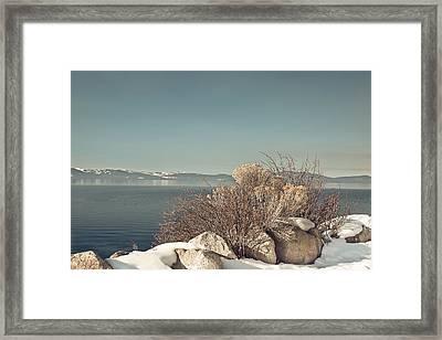 Lake Tahoe Winter Framed Print by Kim Hojnacki