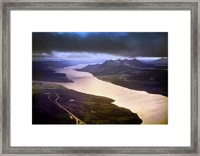 Lake Teslin And The Alaska Highway Framed Print