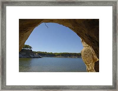 Lake Texoma Eisenhower State Park  Texas Framed Print by Charles Beeler