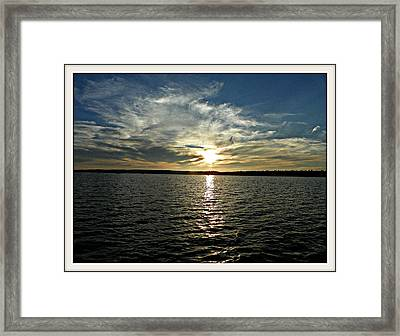 lake Tomiko Sunset Framed Print by Dianne  Lacourciere