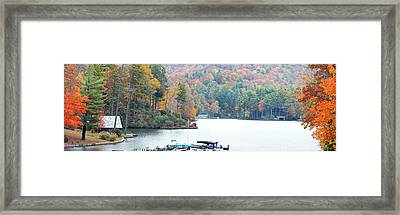 Lake Toxaway In The Fall Framed Print
