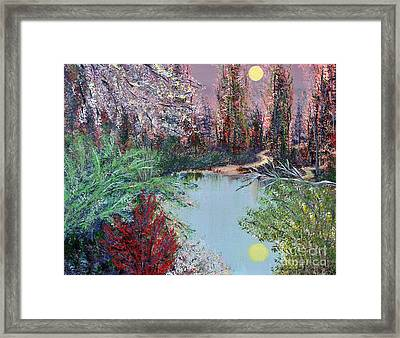 Lake Tranquility Framed Print