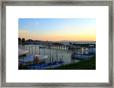 Lake Trasimeno Marina Framed Print