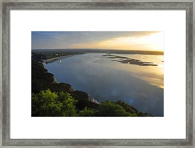 Lake Travis Sunset Framed Print
