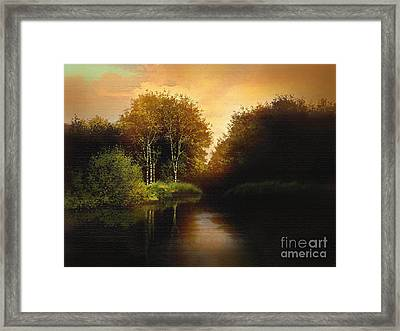Lake Trees Framed Print by Robert Foster