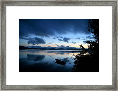Lake Umbagog Sunset Blues No. 2 Framed Print