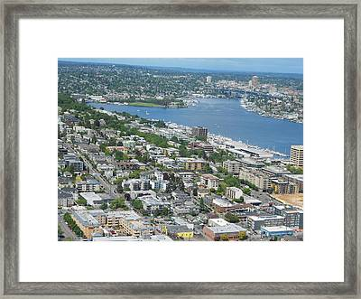 Lake Union Panorama Framed Print by David Trotter