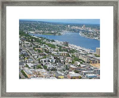 Lake Union Panorama Framed Print