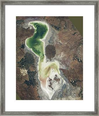 Lake Urmia Framed Print by Nasa/johnson Space Center