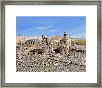 Lake Valley-new Mexico  Framed Print by Guido Borelli