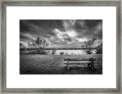 Framed Print featuring the photograph Lake View. by Gary Gillette