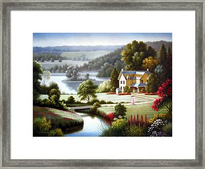Lake Villa Framed Print