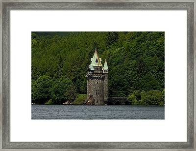 Framed Print featuring the photograph Lake Vyrnwy Straining Tower by Stephen Taylor