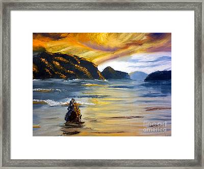 Lake Wahatipu Queenstown Nz Framed Print