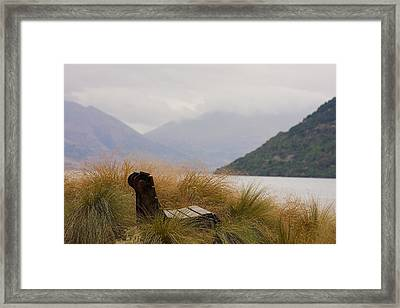 Lake Wakatipu Bench Framed Print