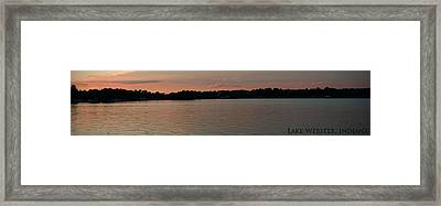 Lake Webster Indiana Framed Print by Thomas Fouch