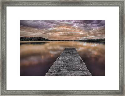 Lake White Twilight Framed Print