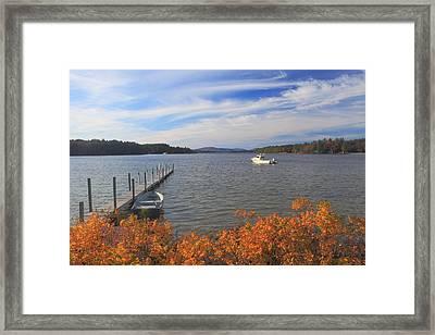 Lake Winnipesaukee Autumn Afternoon Framed Print by John Burk