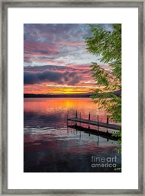 Lake Winnisquam Sunrise 2 Framed Print by Mike Ste Marie