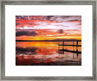 Lake Winnisquam Sunrise Framed Print by Mike Ste Marie